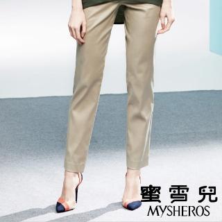 【mysheros 蜜雪兒】天絲棉直筒長褲(卡其綠)