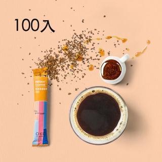 【okogreen 生態綠】純黑即溶咖啡100入(蜜糖花香 口感溫順純淨)