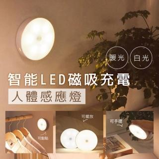 智能LED磁吸充電人體感應燈/