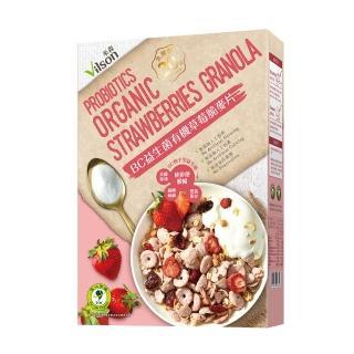 【米森】BC益生菌有機草莓脆麥片(300g/盒)
