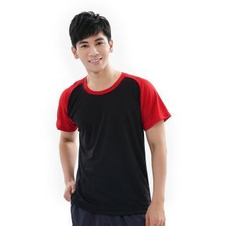 【遊遍天下】MIT中性款吸濕排汗抗UV機能圓領衫GS2001黑紅(M-3L)