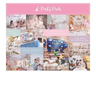 【PartyPack派對懶人包】生日派對背景布旗-浪漫花園獨角獸(生日/週歲派對佈置)