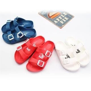 【333 家居鞋館】休閒雙扣兒童室外拖鞋(3色)