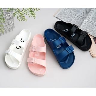 【333 家居鞋館】休閒雙扣成人室外拖鞋(4色)