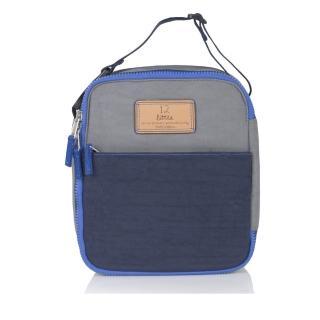 【TWELVElittle】COURAGE 美國超輕量防潑水保冷袋 保溫袋 保鮮袋 餐盒袋 便當袋(電藍灰)