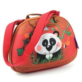 【okiedog】兒童3D動物造型側背包(貓熊)