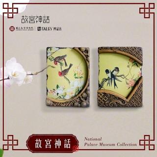 【TALES 神話言】典藏故宮-窗櫺花影-仙萼長春.虞美人蝴蝶花(文創 禮品 禮物 收藏)