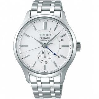【SEIKO 精工】Presage動力儲存顯示機械錶(4R57-00N0S SSA395J1 銀)