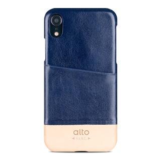 【alto 奧沰】iPhone XR 6.1吋皮革保護殼 Metro - 海軍藍/ 本色(iPhone 保護殼)