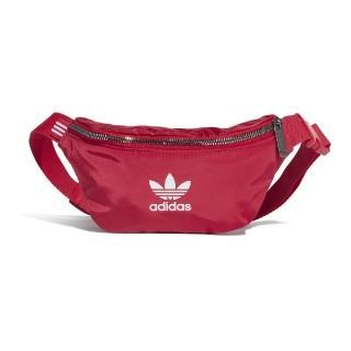 【adidas 愛迪達】腰包 Originals Waistbag 男女款 愛迪達 三葉草 基本經典款 穿搭推薦 外出 紅白(ED5876)