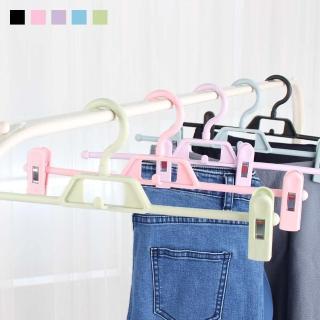 10入組 無痕一字型褲夾 裙夾 衣架 裙褲夾 塑膠製