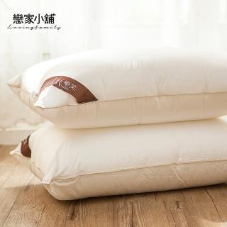 【戀家小舖】台灣製防蹣可水洗枕頭(1入)
