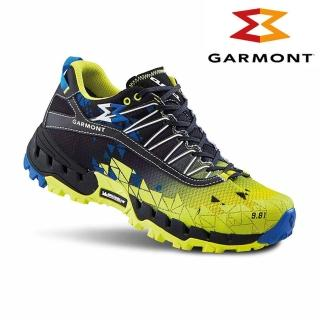 【GARMONT】男GTX低筒越野疾行健走鞋9.81 N.AIR.G. Surround/黃黑色(GoreTex、米其林大底)