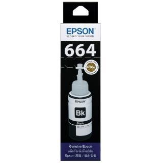 【EPSON】664 原廠黑色墨水罐/墨水瓶 70ml(T664100)