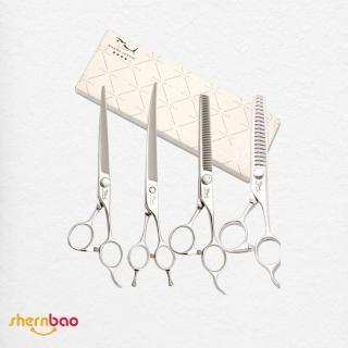 【神寶寵物】SHARK TEETH專業寵物美容剪刀(家用四星)