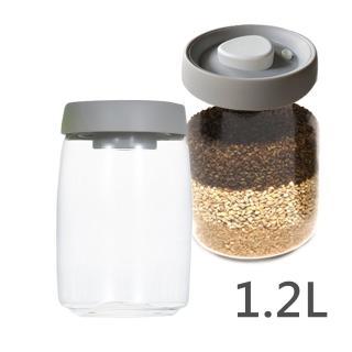 【TIMEMORE】真空玻璃密封罐-1200ml(灰蓋)