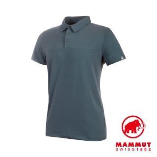 【Mammut 長毛象】Trovat Tour Polo Men 短袖排汗快乾POLO衫 風暴灰 男款 #1017-00031