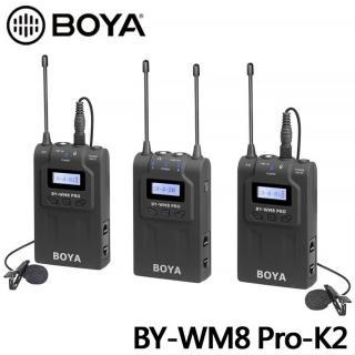 【BOYA 博雅】BY-WM8 PRO-K2 TX8+TX8+RX8 雙通道無線麥克風(公司貨)