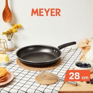 【MEYER 美亞】SKYLINE系列耐磨輕量不沾鍋平底鍋28cm