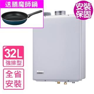 【節能補助再省2千★林內】全省安裝 熱水器32公升屋內強制排氣(REU-A3200WF-TR)