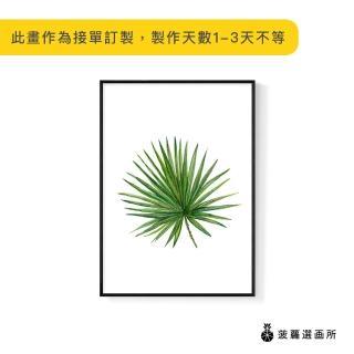 【菠蘿選畫所】花草生活—棕櫚葉-42x60cm(畫/餐桌佈置/旅店掛畫/客廳/植物/北歐/複製畫)