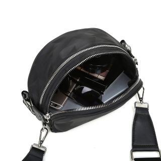 【VIVI SECRET】簡約輕量尼龍雙拉鍊斜肩包胸前包(共4色)