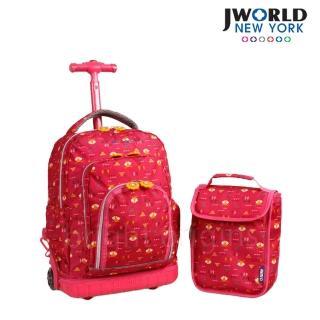 【JWorld】拉桿/後背兩用書包旅行箱(小紅狐狸)