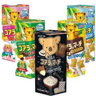 【新口味上市】LOTTE樂天小熊餅-家庭號破盤買4送1組(五口味任選)