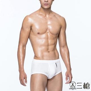 【三槍牌】4件組精典時尚型男全棉三角褲(白色_M-XL)