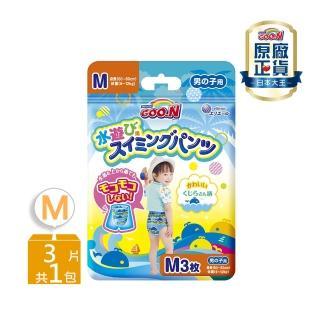 【日本大王GOO.N】國際版紙尿褲/尿布褲型戲水褲男M