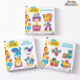 【Sticky Mosaics】馬賽克拼貼組-M號(公主、交通、寵物)
