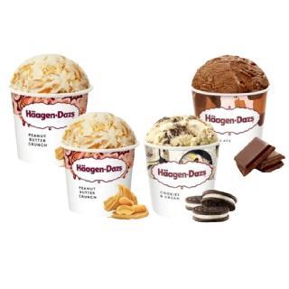【Haagen-Dazs】濃脆口感花生醬品脫4入組(花生醬x2/黑巧克力/淇淋巧酥)