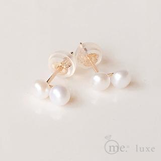 【me.luxe】K10黃K珍珠耳環(日本輕珠寶網路銷售NO.1)