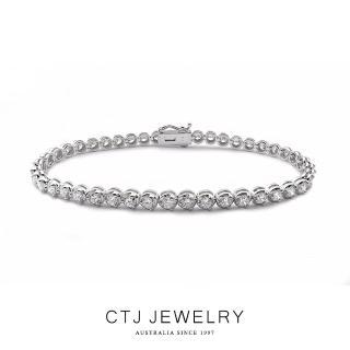 【CTJ】典藏4克拉滿鑽18K金鑽石手鍊