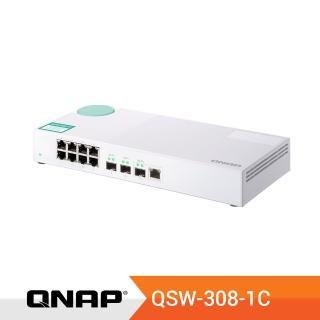 【QNAP 威聯通】QSW-308-1C 11埠無網管型交換器