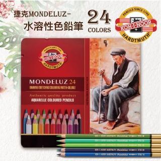 【KOH-I-NOOR HARDTMUTH】3724 捷克專業級MONDELUZ水溶性色鉛筆鐵盒裝-24色