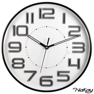 【NAKAY】12吋超靜音立體數字掛鐘(NCL-37)
