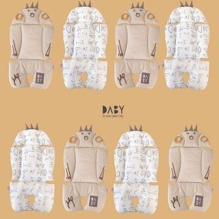 【韓國Daby】堅果小怪獸推車汽座兩用透氣墊(新款可雙面使用、適用所有推車)