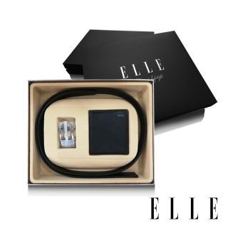 【ELLE HOMME】男爵系列-真皮皮夾+皮帶(二件組禮盒A9003)