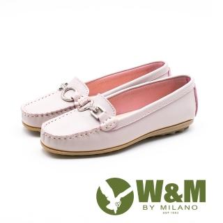 【W&M】可水洗舒適柔軟莫卡辛鞋 女鞋(粉)