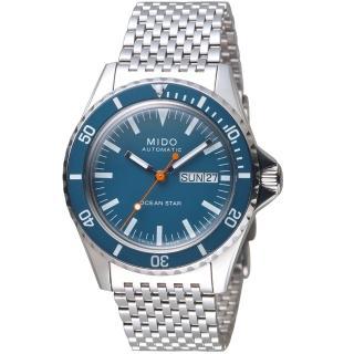【MIDO 美度】TRIBUTE 75週年特別腕錶(M0268301104100 藍)