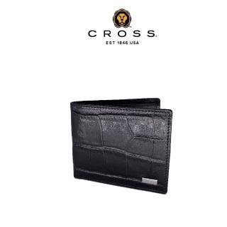 【CROSS】限量2折 頂級NAPPA小牛皮8卡鱷魚紋咬錢男用皮夾 福利特價品(專櫃展示品99%新)