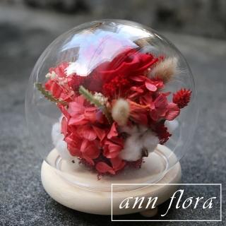 【ann flora】永生花鐘罩組合(主花為永生玫瑰花)