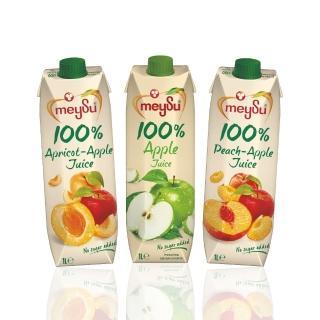 【meysu】美愫100%純天然果汁1000ML(吳鳳推薦蘋果綜合3入組)