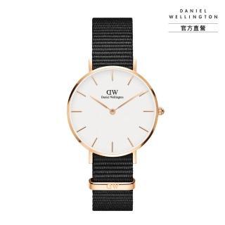 【Daniel Wellington】官方直營 Petite Cornwall 32mm寂靜黑織紋錶(DW手錶DW00100253)