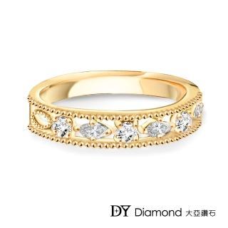 【DY Diamond 大亞鑽石】L.Y.A輕珠寶 18黃K金 星空 鑽石線戒