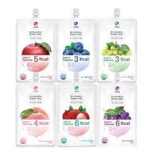 【Jelly.B】低卡蒟蒻果凍(水蜜桃/青葡萄/蘋果/藍莓/荔枝/紫葡萄)