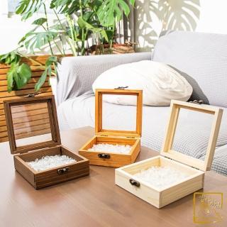 【吉祥水晶】白水晶木盒消磁盒 300g(消磁水晶 淨化能量)