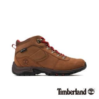 【Timberland】女款鐵銹色磨砂革防水厚底中筒徒步鞋(A25MV643)