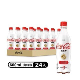 【可口可樂】纖維+寶特瓶600ml-24入(週期購)